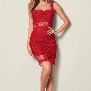 NWOT Venus red lace dress
